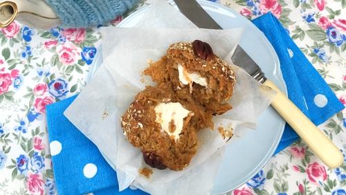 Sharon's Honey & Spelt Carrot Cake Muffins