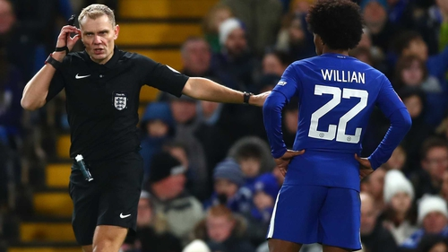 The VAR was in use during Chelsea's win over Norwich in the FA Cup