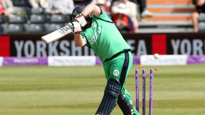 Paul Stirling racked up a total of 74, helping Ireland to victory over Scotland in Dubai