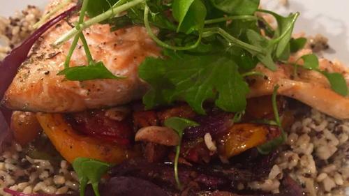 Pinnock's Mediterranean Salmon Tray Bake