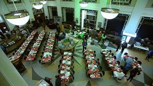 The GPO hosted 240 homeless people for the three-course meal followed by music
