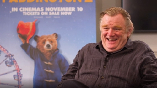 "Brendan Gleeson told us Paddington was ""a little trouper"" to work with"