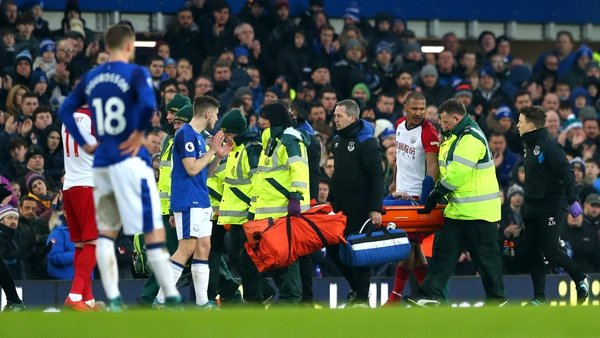 James McCarthy was stretchered off after the double break in his leg in Everton's game against West Brom
