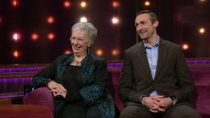 Geraldine Plunkett with son Marcus Lamb on The Ray D'Arcy Show