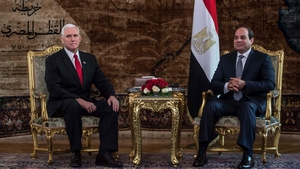 Mr Pence said the US would support a two-state solution in a meeting with Egyptian President Abdel Fattah al-Sisi