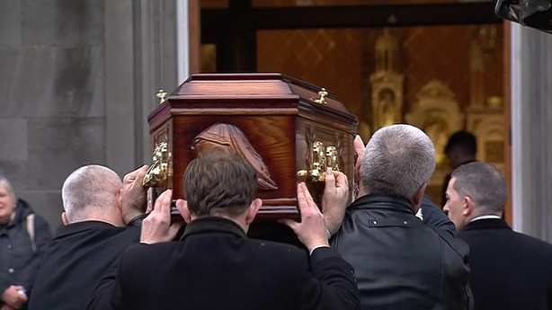 Dolores O'Riordan coffin