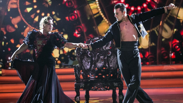 Norah Casey and Curtis Pritchard performing the Paso Doble