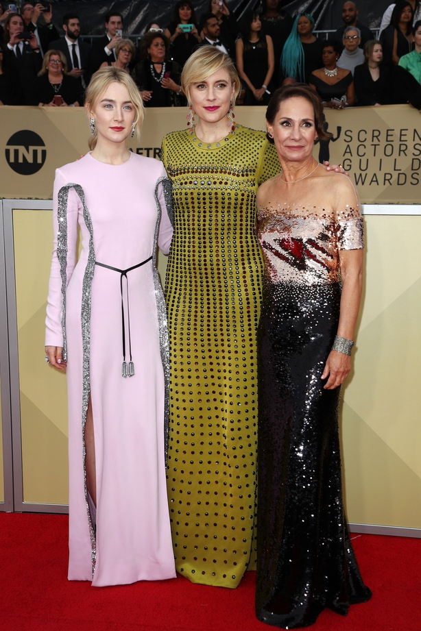 Saoirse Ronan, Greta Gerwig and actor Laurie Metcalf