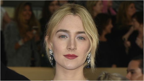 Saoirse Ronan glitters in SAG Dress
