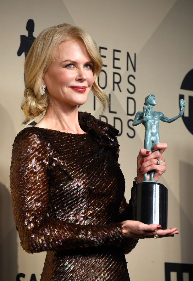 Actor Nicole Kidman, winner of Outstanding Performance by a Female Actor in a Miniseries
