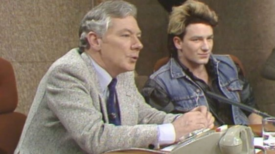 Gay Byrne and Bono (1983)