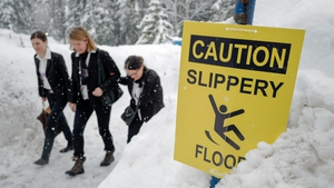Streets are not salted in Davos to protect the environment
