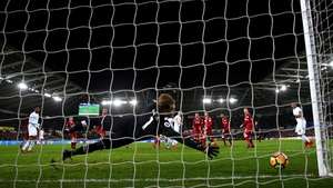 Alfie Mawson gives Swansea the lead at home to Liverpool in the Premier League clash at the Liberty Stadium