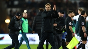 Jurgen Klopp reacted to a Swansea who was shouting in his direction during the 1-0 loss in the Liberty Stadium on Monday night