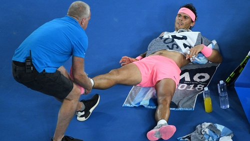 Rafael Nadal looked to be in control of the match, leading 2-1 after three sets