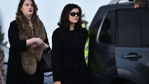 Ali Hewson attended the funeral mass of Dolores O'Riordan