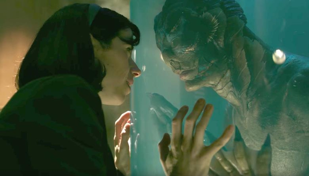 Sally Hawkins plays a cleaner who falls in love with a fish-man (Doug Jones)