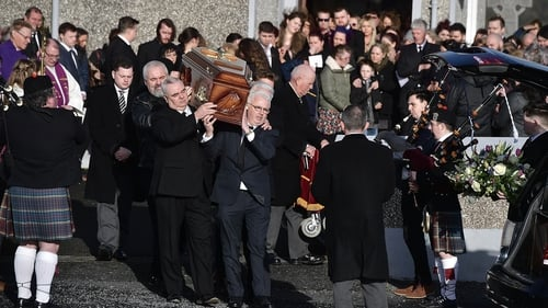 Hundreds of mourners attended the funeral mass of Dolores O'Riordan in Co Limerick