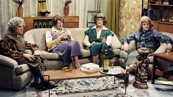 Mothers of Seven - Fanny (Pat Daly), Grainne (Paul Murphy), Rosa (Frank Kelly), and Maevis (Eamon Morrissey)