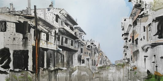 """War Changes Its Address: The Aleppo Paintings"" by Brian Maguire at IMMA"