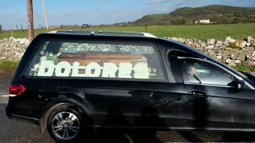 Dolores O'Riordan's funeral was followed by a private family burial