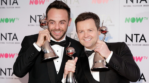 Ant and Dec win three National Television Awards