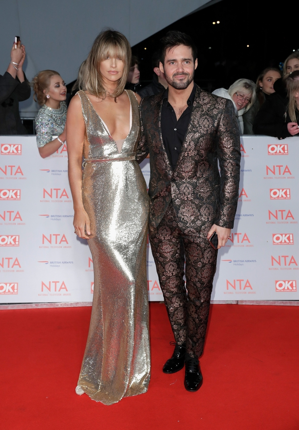 Vogue Williams and Spencer Matthews attend the National Television Awards 2018