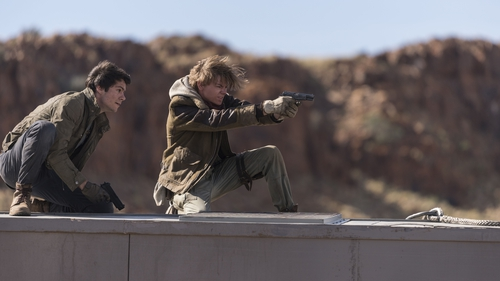 Dylan O'Brien and Thomas Brodie-Sangster engage in a spot of Butch and Sundance meets Mad Max