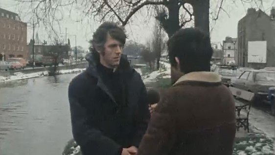 Father Alan Kiely is interviewed by an RTÉ reporter in Dublin (1978)