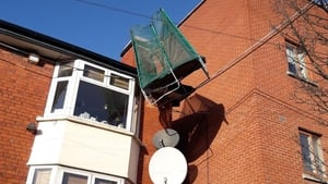 A trampoline was blown around by strong winds (Pic: Dublin Fire Brigade)