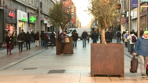 The planter boxes on Henry Street