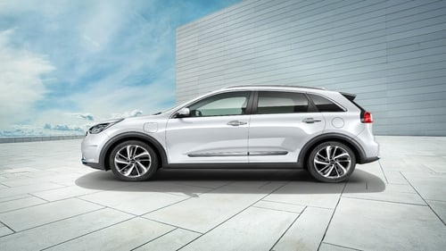 Kia says the Niro crossover plug-in hybrid has a pure electric range of 58 km.