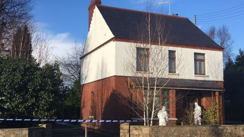 House in Aughnacloy where woman was found in garden