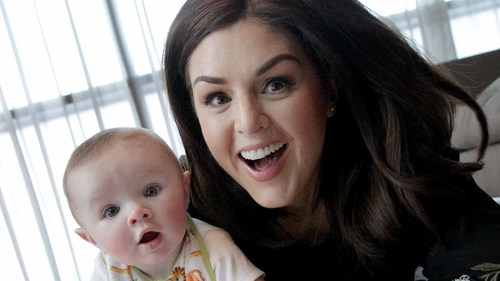 Síle Seoige with baby Cathal