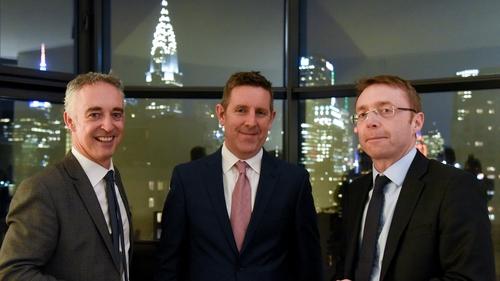 John Phelan, HBAN's national director; Feargall Kenny, Digital Irish Angels Syndicate; and Ciarán Madden, Consul General of Ireland in New York