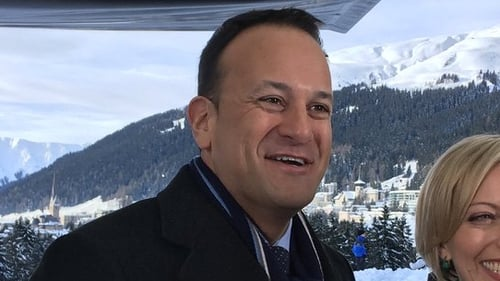 The Taoiseach made the comments during an interview in Davos as the World Economic Forum drew to a close