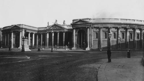 The Bank Of Ireland on College Green in Dublin from 1890