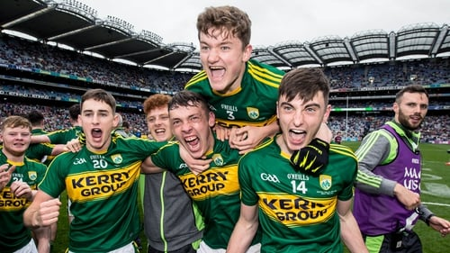Kerry minors celebrate their All-Ireland minor win in 2016