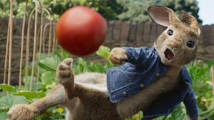 A scene from the first Peter Rabbit movie