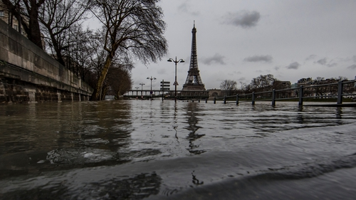 The River Seine is expected to peak at more than six metres today, which is at least four metres higher than normal height