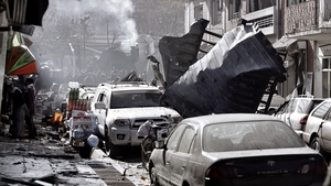 The bomb targeted a busy area of Kabul city centre that is home to several foreign embassies
