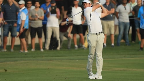 Rory McIlroy is one shot off the lead heading into the final round