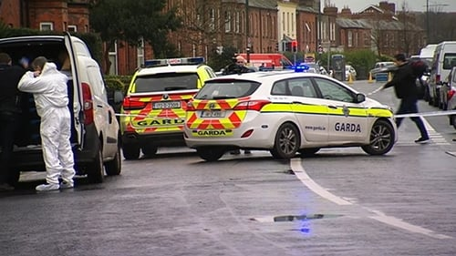 Forensic specialists are examining the scene of the latest Hutch/Kinahan feud shooting