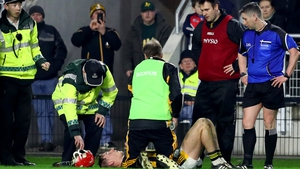 The Kilkenny was withdrawn from the pitch in the 64th minute of the game.