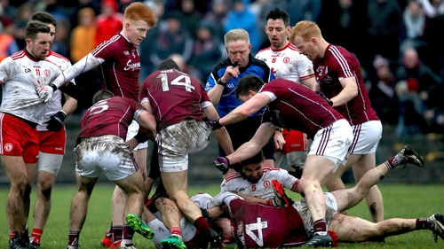 Tempers flare between Galway and Tyrone players