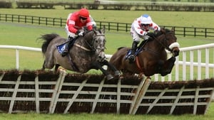 Sandsend (L) on the way to winning the Limestone Lad Hurdle
