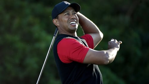 Tiger Woods finished on three-under