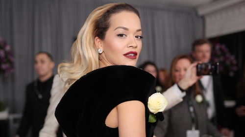 Rita Ora was among those wearing a white rose on the red carpet