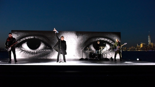 U2 rock New York Harbor