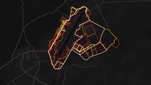 The Strava heat map shows Bagram airfield in Afghanistan (Pic Strava Labs)